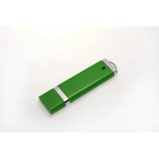 USB в пластиковом корпусе, зеленого цвета