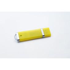 USB в пластиковом корпусе, желтого цвета