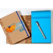 Эко-блокнот с цветной бумагой в любом цвете