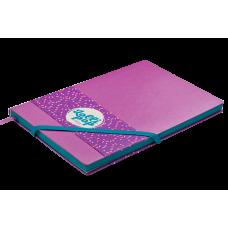 Блокнот деловой LOLLIPOP LOGO2U А5, 96л., клетка, обложка искусственная кожа, бирюзовый