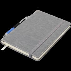 Блокнот деловой CODE А5, 96л., линия, обложка искусственная кожа, темно-синий