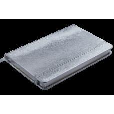 Блокнот деловой INGOT 95x140мм, 80л., клетка, обложка искусственная кожа, синий