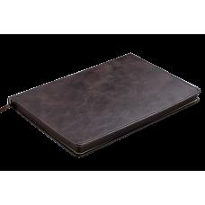 Блокнот деловой BELLAGIO LOGO2U А5, 96л., клетка, обложка искусственная кожа, черный