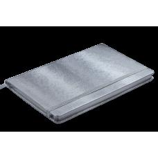 Блокнот деловой INGOT 125x195мм, 80л., клетка, обложка искусственная кожа, синий