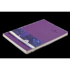 Блокнот деловой COLOR TUNES А5, 96л., клетка, обложка искусственная кожа, синий