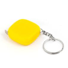 Брелок -рулетка.  Желтый пластик