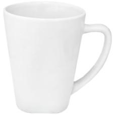 Чашка белая 380 мл фарфор