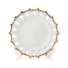 Тарелка с золотой каймой D 160 мм