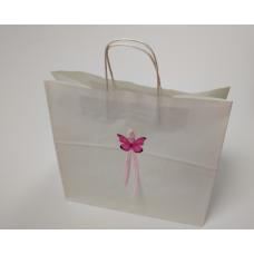 Крафт-пакет с наклейкой и ленточкой