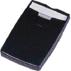 Визитница с роликовым механизмом из прозрачного пластика черного цвета для визиток и кредитных карт.
