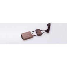 Деревянная флешка со шнурком - коричневая на 4 Гб