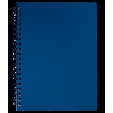 "Книжка записн. на пруж. ""STATUS"" А4, 80л.,кл., пластик.обл., графит"