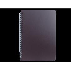 """Книжка записн. на пруж. """"OFFICE"""" А5, 96л.,кл., пластик.обл., синий"""