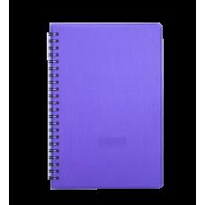 "Книжка записн. на пруж. ""RAIN"" А5, 80л.,кл., пластик.обл., черный"